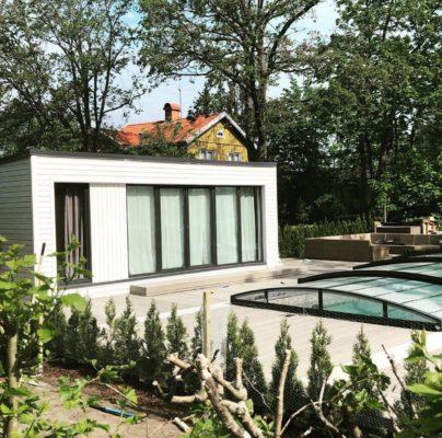 Ralf Attefallshus 25 kvm i Danderyd som används som poolhus