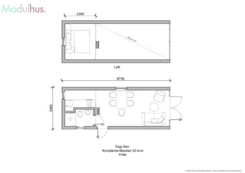 Villa Sugi Ban 30kvm Planlösning