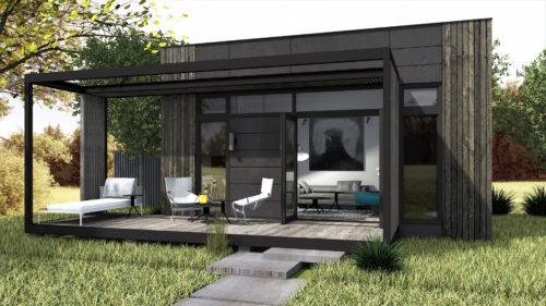 attefallshus-theo-svart-mörkgrön-två-sov-loft