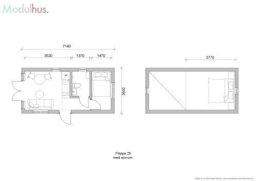 Filippa 25 med sovrum och loft