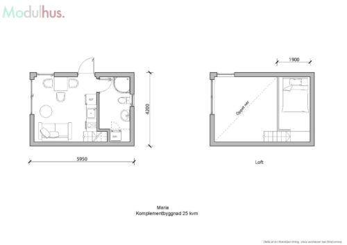 Villa Maria 25kvm Planlösning 1