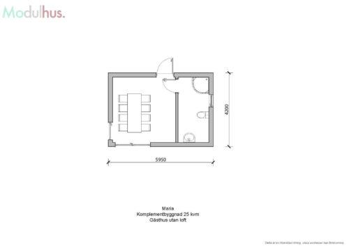 Villa Maria 25kvm Planlösning 2