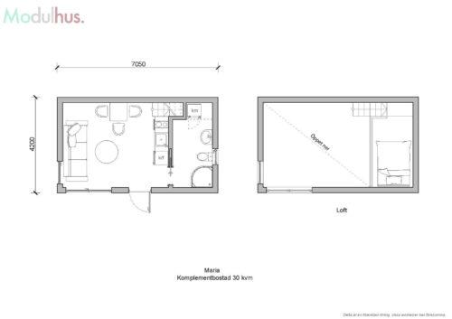 Villa Maria 30kvm Planlösning