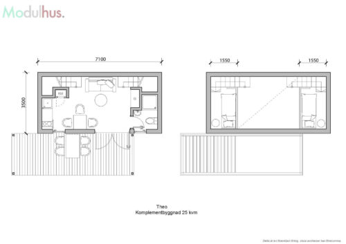 Villa Theo 25kvm Planlösning