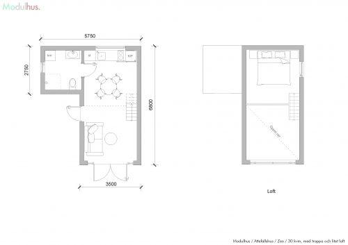 Zen 30 med trappa och litet loft
