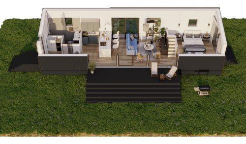 Villa Solice 3d-plan
