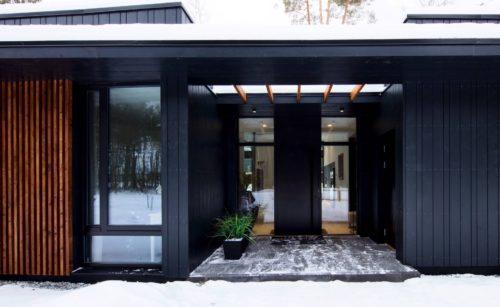 Modulhus CLT Villa Bella Casa Exteriör Entre Vinter
