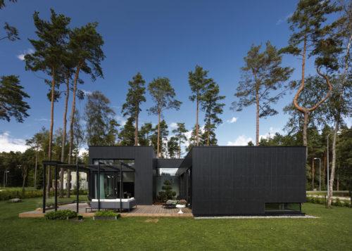 Modulhus CLT Villa Bella Casa Exteriör Sommar 4