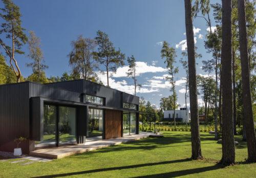 Modulhus CLT Villa Bella Casa Exteriör Sommar