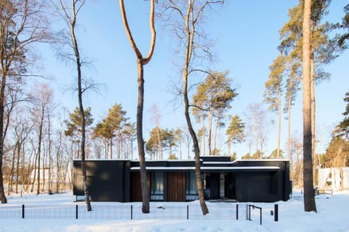 Modulhus CLT Villa Bella Casa Exteriör Vinter 3