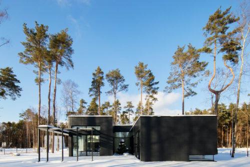Modulhus CLT Villa Bella Casa Exteriör Vinter