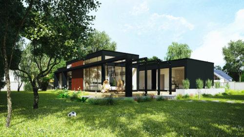 Modulhus CLT Villa Bella Casa Produkt Exteriör Sommar