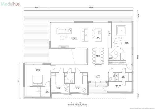 Villa Bella Casa 179kvm Planlösning2
