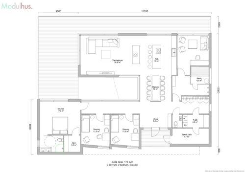 Villa Bella Casa 179kvm Planlösning3