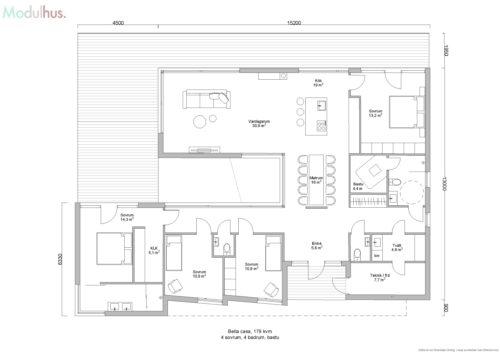 Villa Bella Casa 179kvm Planlösning5