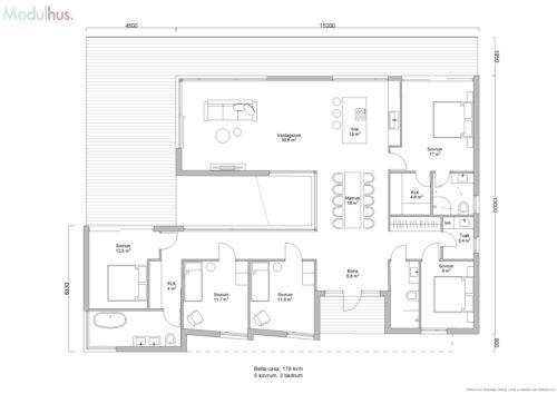 Villa Bella Casa 179kvm Planlösning6