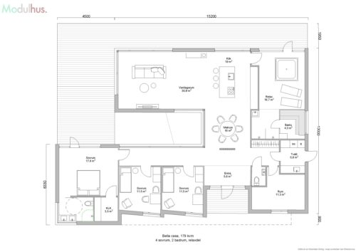 Villa Bella Casa 179kvm Planlösning7