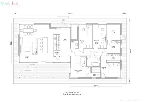 Villa Lyckorus 156kvm Plan 2
