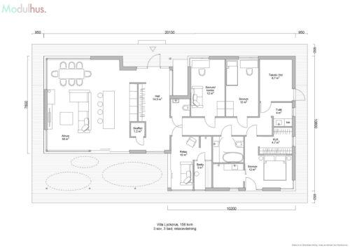 Villa Lyckorus 156kvm Plan 3