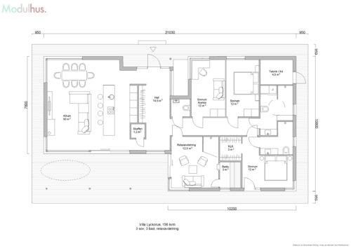Villa Lyckorus 156kvm Plan