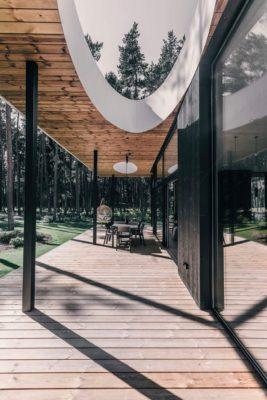 Villa Lyckorus Designhus Exteriör Terass