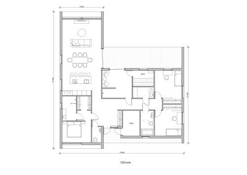 Villa Solsaga 155kvm Planlösning