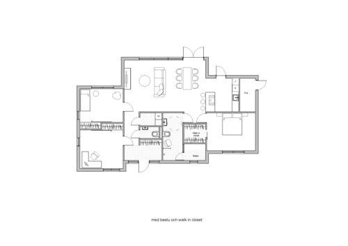 Villa Stinehill 120kvm Planlösning med bastu och walk in closet