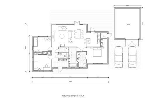 Villa Stinehill 120kvm Planlösning med garage och privat badrum