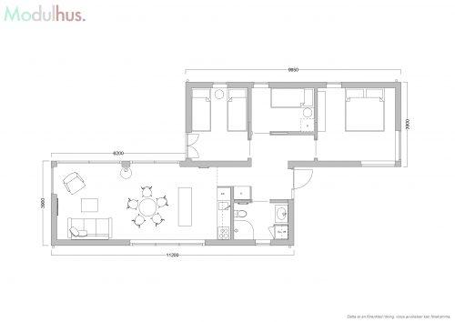 Villa Vårvinga plan 1