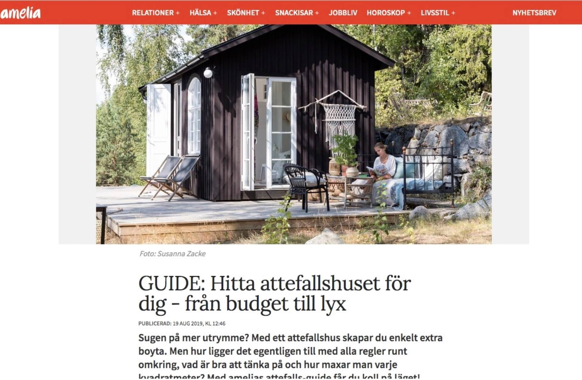 Modulhus är med artikeln - GUIDE: HITTA ATTEFALLSHUSET FÖR DIG - FRÅN BUDGET TILL LYX - 19 AUG 2019